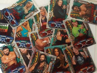 topps WWE 2018 SLAM ATTAX LIVE Champion Foil Trading Card SINGLES 1 - 32 choose