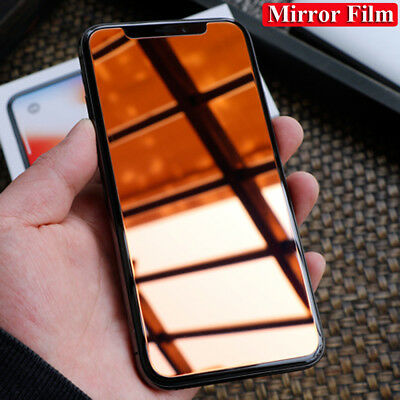 Luxury 9H Mirror Film Guard Tempered Glass Screen Protector for iPhone Xs Max/Xr