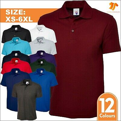 New Mens Ladies Active Pique Polo Shirt Size XS - 6XL Sports Work Leisure TOP