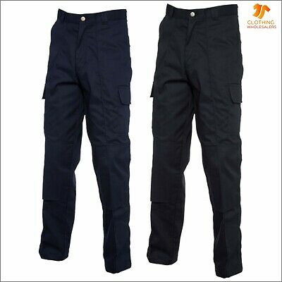 Mens Womens Cargo Trousers With Knee Pad Pockets Work Wear Safety Industry Pants