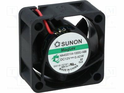 Fan: DC; axial; 12VDC; 40x40x20mm; 9.3m3/h; 12.3dBA; Vapo; 2.54mmH2O [1 pcs]