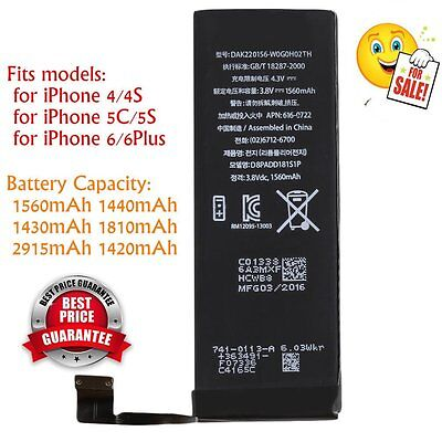 1560mAh Li-ion Battery Replacement Part with Flex Cable for iPhone 5S/5C New QL
