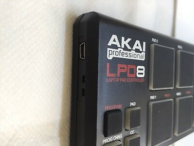 AKAI Professional LPD 8 Laptop Pad Controller With USB Cable.