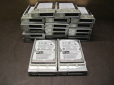 "Lot Of 19 Mixed SUN Hitachi Seagate 146GB 2.5"" 10000RPM SAS Hard Drives"