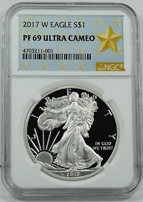 2017-W $1 American Silver Eagle Coin NGC PF69UCAM - LOW MINTAGE