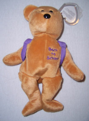 Ty Beanie Babies(Baby). 2005 Books (lila Rucksack) Back to School
