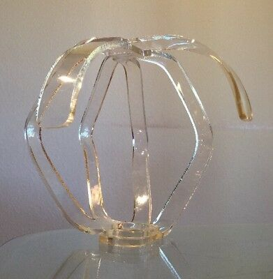 Mid Century Modern 1960-70's Clear LUCITE Wig Hat Stand Form Rack Vintage