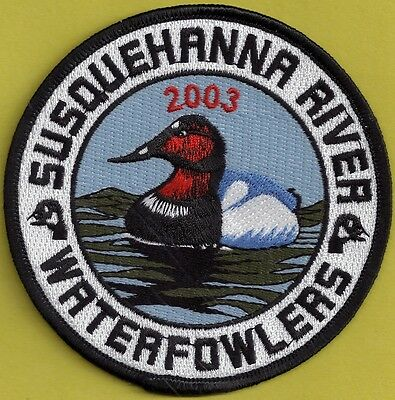 "Pa Pennsylvania Fish Game Commission NEW 4"" 2003 SRWA Canvasback Duck Patch"