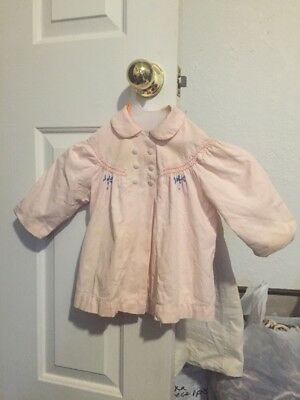 VINTAGE 1920's PINK EMBROIDERED BABY'S JACKET