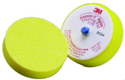 "3M Boat Marine Finesse-It Roloc Finishing Disc Pad 3"" Yellow Soft Foam"