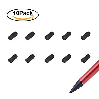 Fine Point Stylus Pens' Accessory, Soft Replacement Rubber Tips -Black Pen Tips