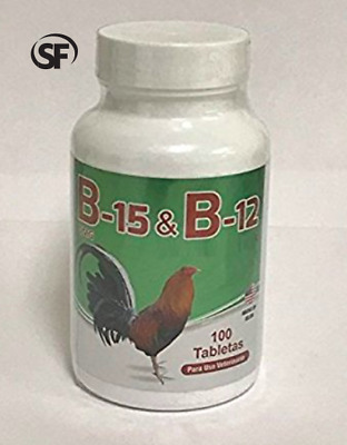 B-15 and B-12 for Roosters - 100 Tablets
