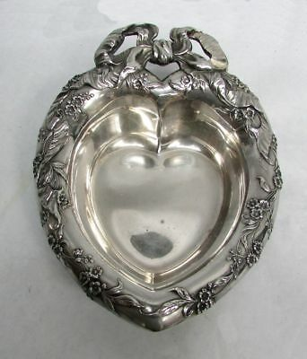 Outstanding Vintage (1950) Reed & Barton Heart Shaped Candy Dish