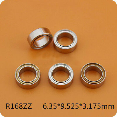 1Pcs No Standard Small Bearings R168ZZ Flanged FR168ZZ 6.35*9.525*3.175mm