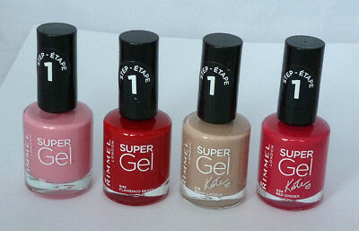 Rimmel Super Gel Nail Polish 12ml Assorted Shades