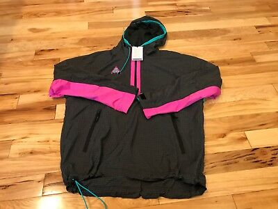 e86f51b32bae Nike Acg 2018 Hooded Jacket Anthracite Magenta Teal 931907 060 Men s Large  Nwt