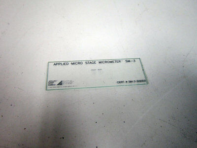 Applied Micro Stage Micrometer Sm-3 Microscope