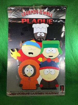 """New South Park Legends of the Wall Hanging or Magnet Kids & Chef 11"""" Tall Polar"""