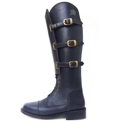 WW2 US Army Boots Men's 11 Cavalry Officer Riding Horse 1930-40s Black Polo