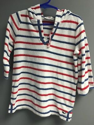 Vinyard Vines Beach Cover Up Red/white/blue Toddler Size 4T NEW