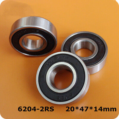 2Pcs SYBS Bearings 180204 6204-2RS 6204-RS 20*47*14mm Motor Class Bearings