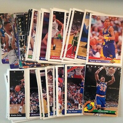 Lot 62 Cartes De Basket Nba Upper Deck 1992-93