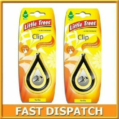 2 X Magic Tree Vanilla Little Tree Clip Air Freshener Car Home Freshener