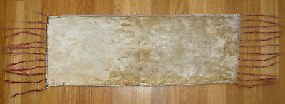 1920s small vintage velvet table runner piano scarf shawl cloth tie dye