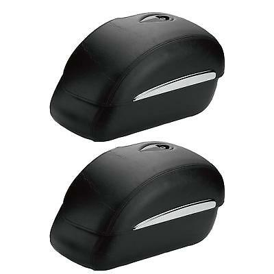Victory Motorcycle New OEM Black Semi-Hard Saddlebags, Kingpin Vegas, 2875358