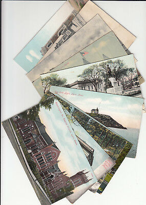 Lot of 10 Vintage Era Postcards Lynn MASS Massachusetts Essex County MA Rock Tw