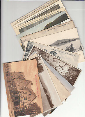 Postcard Dealer Resale Lot of 15 Vintage Era Postcards Northampton Massachusetts