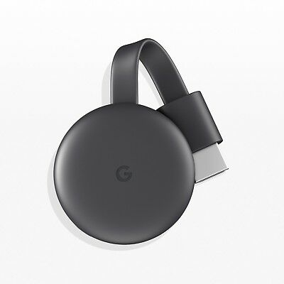 Brand New Google Chromecast Charcoal Latest Model HD Streaming Media Player