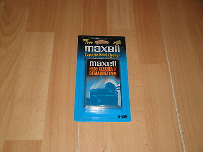 Cassette Head Cleaner & Demagnetizer By Maxwell Dry Type New Factory Sealed