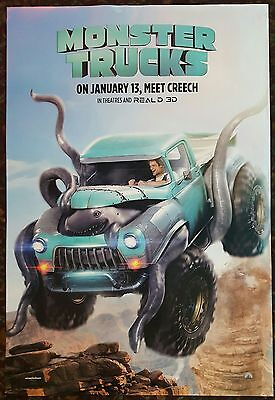 MONSTER TRUCKS Original Movie Poster 27x40 DS Authentic Teaser Version