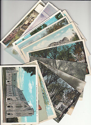 Postcard Dealer Lot of 15 Vintage Era Postcards Great Barrington Massachusetts