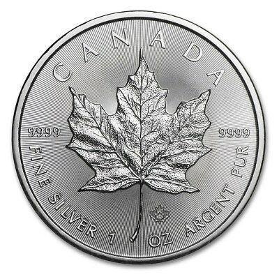 Canada 5 Dollars 2015 Maple Leaf 1 Once D'Argent (S / / C)