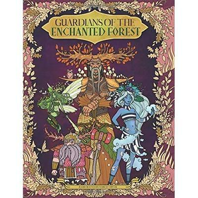 GUARDIANS OF THE Enchanted Forest Adult Colouring Book Fantasy Fairy