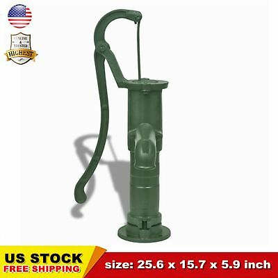 Cast Iron Stand for Garden Hand Water Pump Well Pump Base Stand Green Durable US