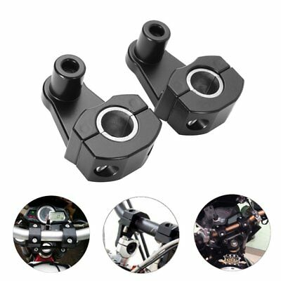 2 x Motorcycle HandleBar Handle Fat Bar Mount Clamps Riser Universal 7/8'' 22mm