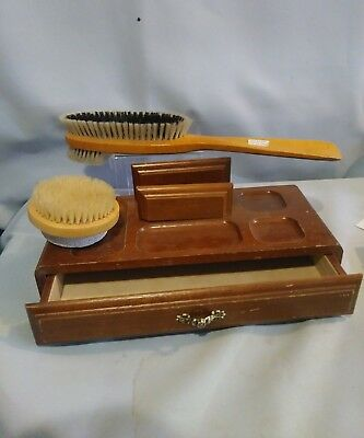 Men's Grooming, Shoehorn Brush And Jewel Box Lot