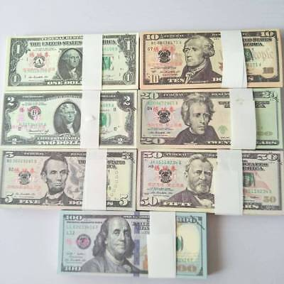 100Pcs Prop Money Full Print Stack for Movie TV Video Novelty and Photography