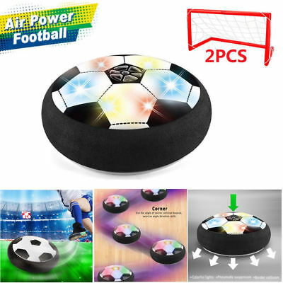 Kids Hover Soccer Ball Set with 2 Goals Gift Football Disk Sports Ball Game Toy