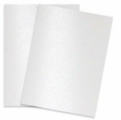 Shimmer Pure White Pearl 107C 8-1/2-x-11 Cardstock Paper 25-pk - 290 GSM (107lb