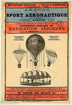 """Balloon poster early Art Nouveau French design 16"""" x 20"""""""