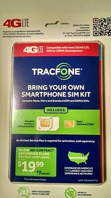 TRACFONE BRING YOUR Own Phone SIM Card Kit (AT&T, Verizon
