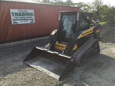 2007 New Holland C175 Tracked Skid Steer W/ Cab, 2 Speed, Joysticks & High Flow