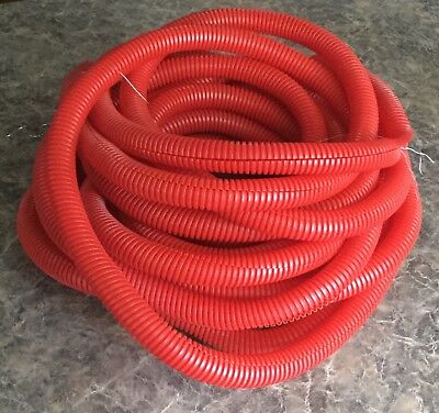"3/4"" Red Split Wire Conduit Loom 35ft Long Plastic Tubing"