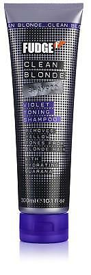 Fudge Violet Shampoo Clean Blonde Toning Smooth Hair Care Products 300 ml