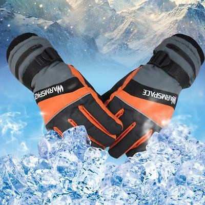 Winter Rechargeable Warm Electric Heated Thermo Gloves USB Hand Warmer Glove DE