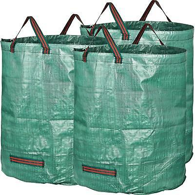1/2/4 Pack Large Waterproof Heavy Duty 272L Garden Waste Bags Sack with Handles